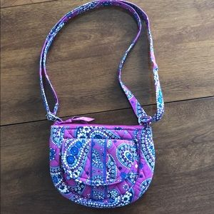 Vera Bradley crossbody bag in Purple Paisley